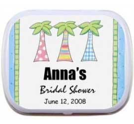 Bridal Shower Palm Trees Mint Tin