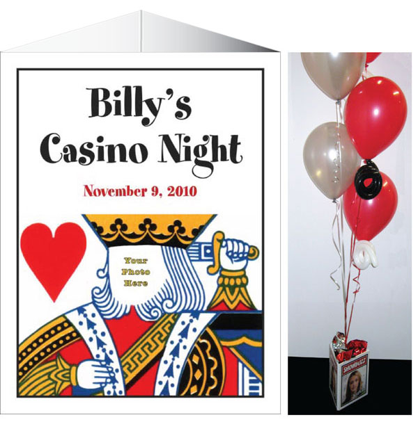 Casino Theme King of Hearts Centerpiece