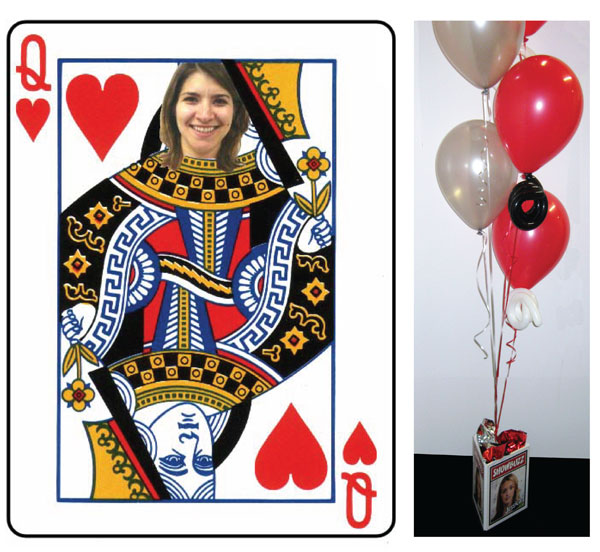 Casino, Queen Of Hearts Centerpiece