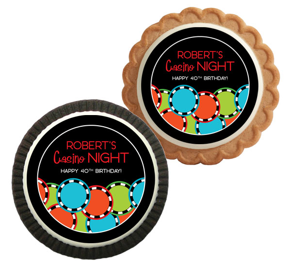 Casino Poker Chips Theme Cookie
