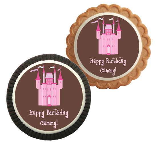 Birthday Castle Theme Custom Cookie