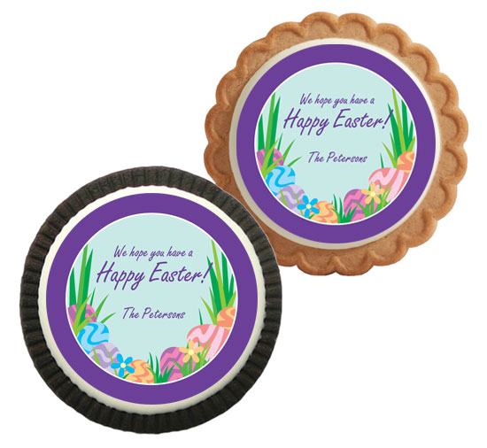 Easter Eggs Spring Theme Cookie
