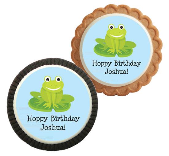 Frog Theme Custom Cookie