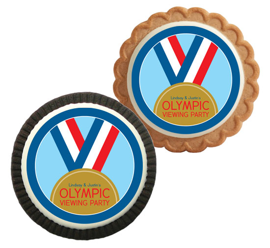 Gold Medal Theme Custom Cookie