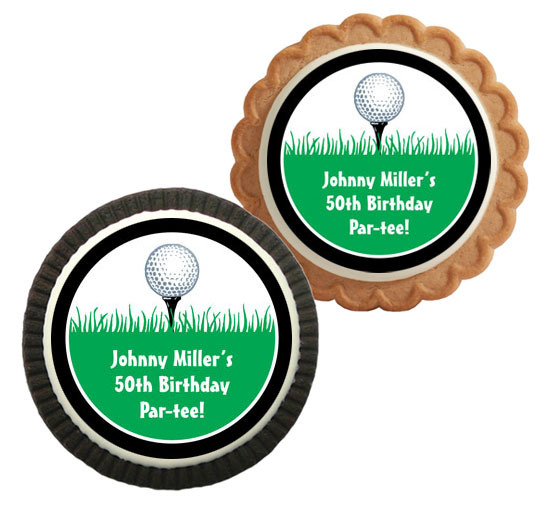 Custom Cookie, Golf Theme