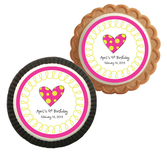 Custom Cookie, Heart Theme