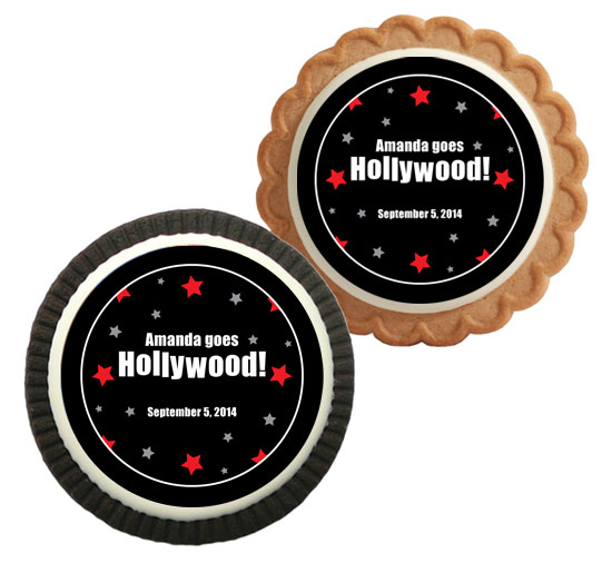Hollywood Star Party Custom Cookie
