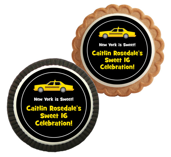 New York Taxis Theme Custom Cookie