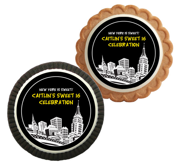 New York Party Theme Custom Cookie