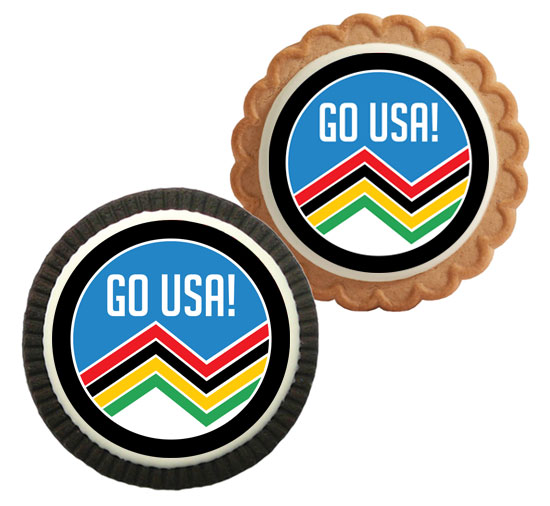 Winter Olympics Theme Cookie