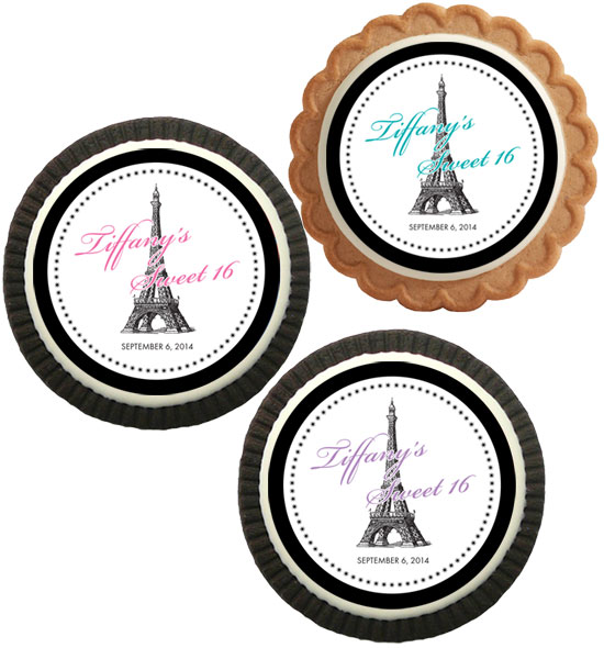 Paris Party Theme Custom Cookie
