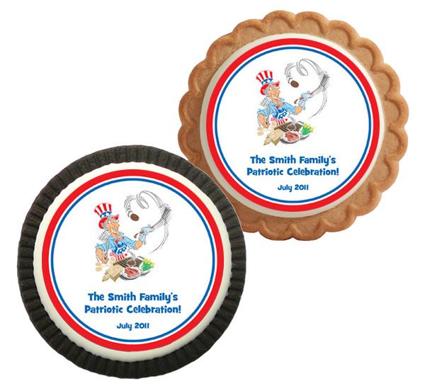 American Patriotic BBQ Theme Cookie