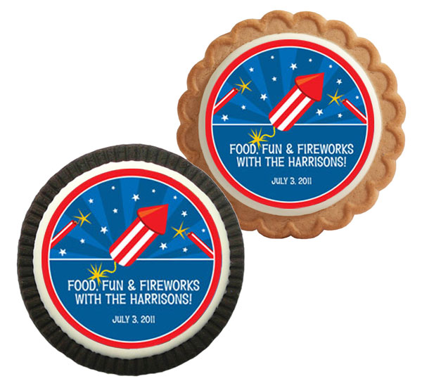 Fireworks Theme Cookie