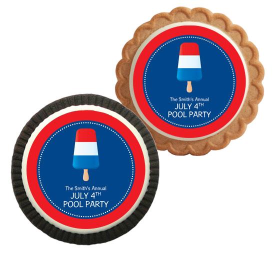 Patriotic Popsicle Theme Cookies