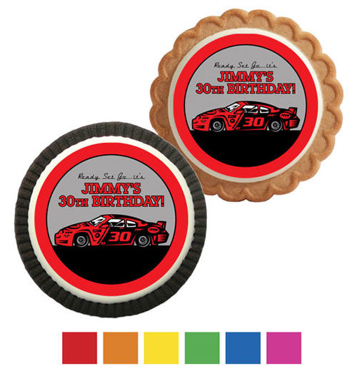 Racing Party Theme Custom Cookie