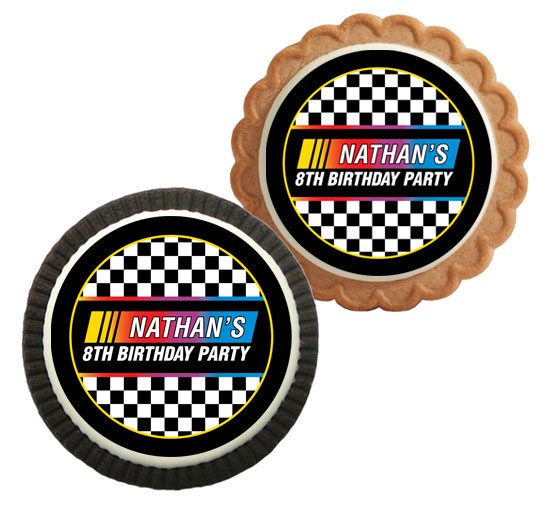 Racing Flag Theme Custom Cookie