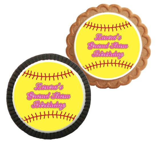 Softball Theme Custom Cookie
