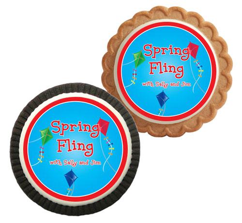 Flying Kites Theme Cookie