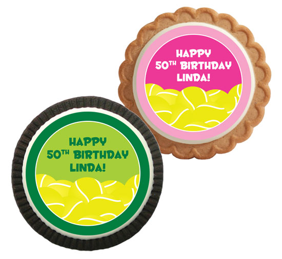 Tennis Theme Party Custom Cookie