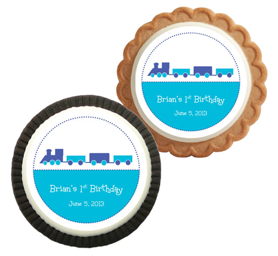 Train Theme Custom Cookie