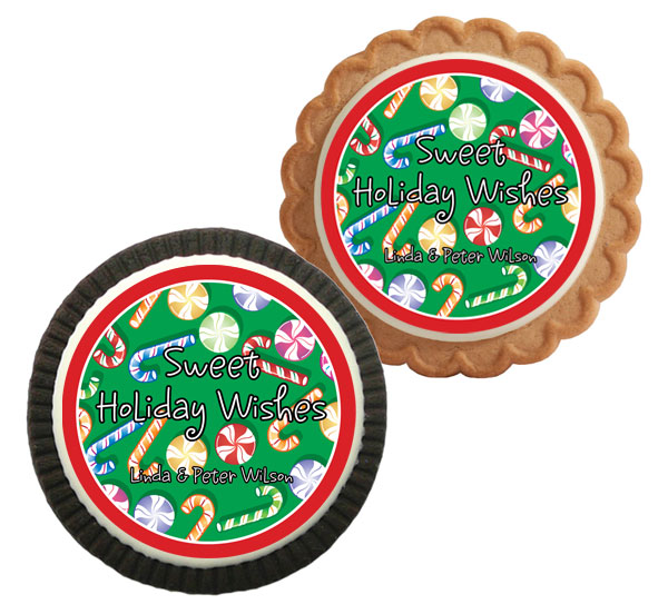 Christmas Candy Theme Custom Cookie