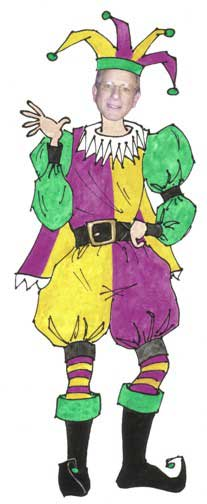 Jester Male Cutout