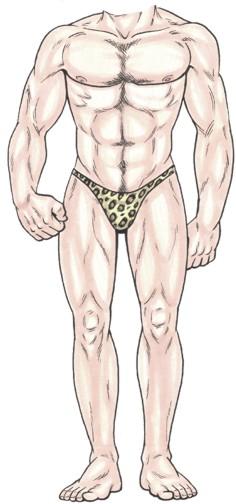 Bathing Suit Male Cutout