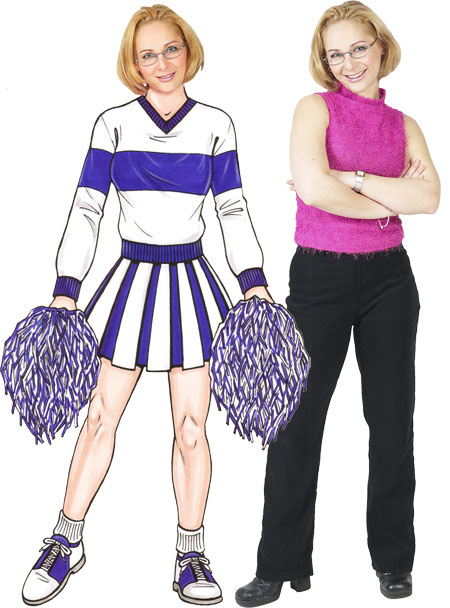 Cheerleader Life-Sized Cutout