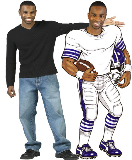 Football Player Cutout