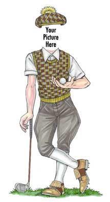 Golfer Cutout