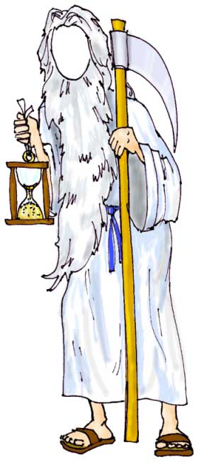 New Years Cutout, Father Time