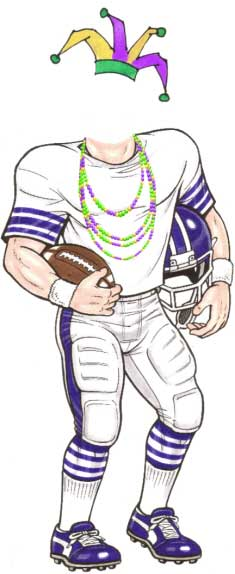Mardi Gras Super Bowl Cutout