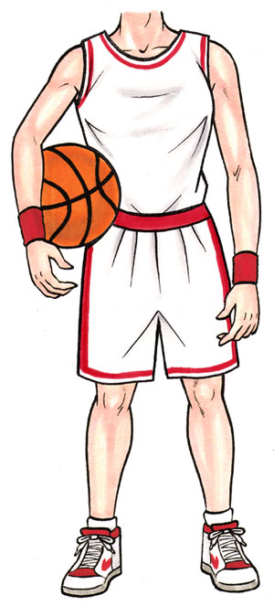 Basketball Player Female Cutout