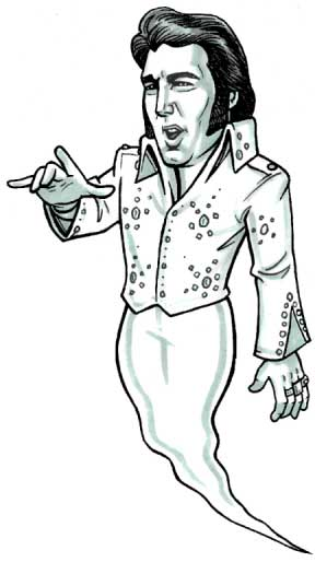 Halloween Cutout, Ghost of Elvis