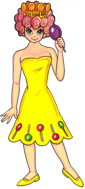 Candyland Lolly With Princess Face Cutout
