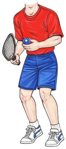 Racquetball Player Cutout
