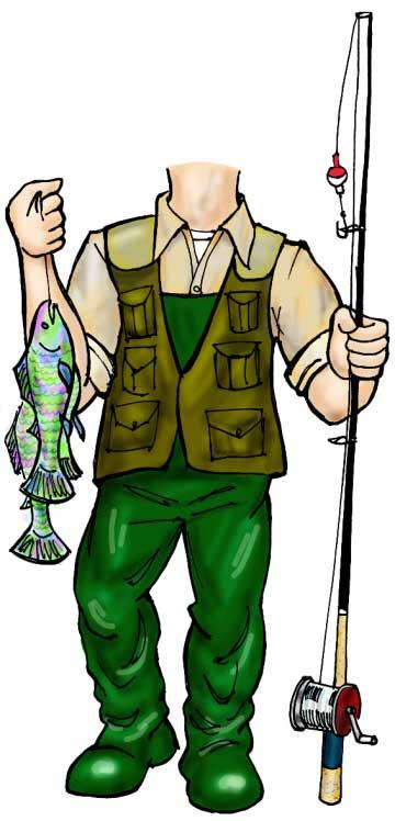 Fisherman Life-Sized Cutout