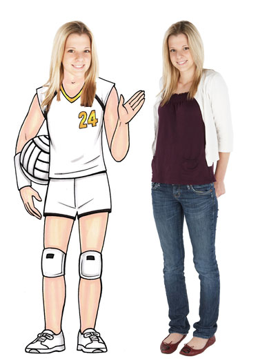 Volleyball Player Female Cutout