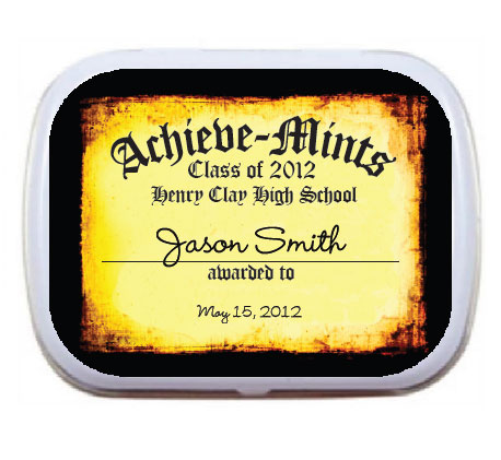 Graduation Mint Tin, Achieve-Mints