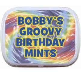 Hippie Tie Dye Mint and Candy Tin