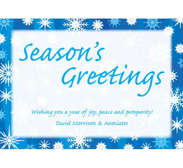 Winter Snow Theme Holiday Card
