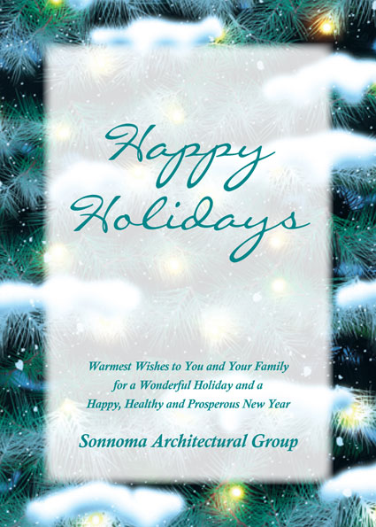 Winter Holidays Theme Holiday Card