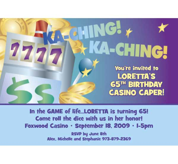 Casino Slots Theme Invitation