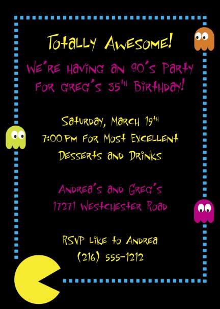 80s Invitation