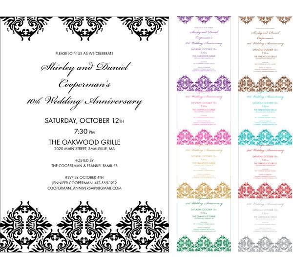 Classic Damask Invitation