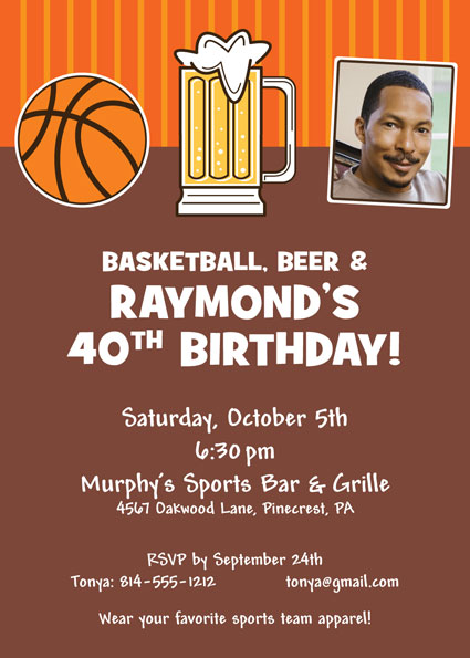 Basketball Celebration Invitation