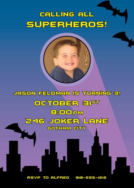 Batman Invitation