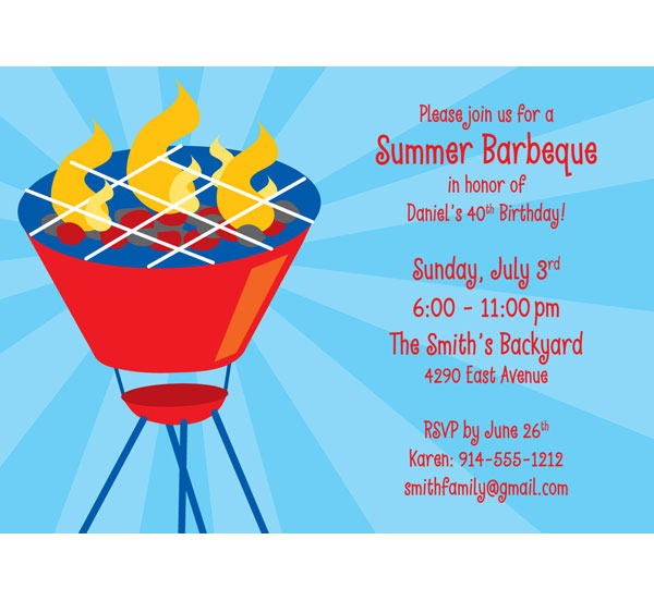 Barbecue Party Theme Invitation