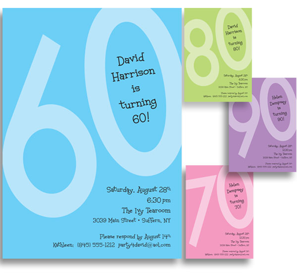 Birthday Age Invitation