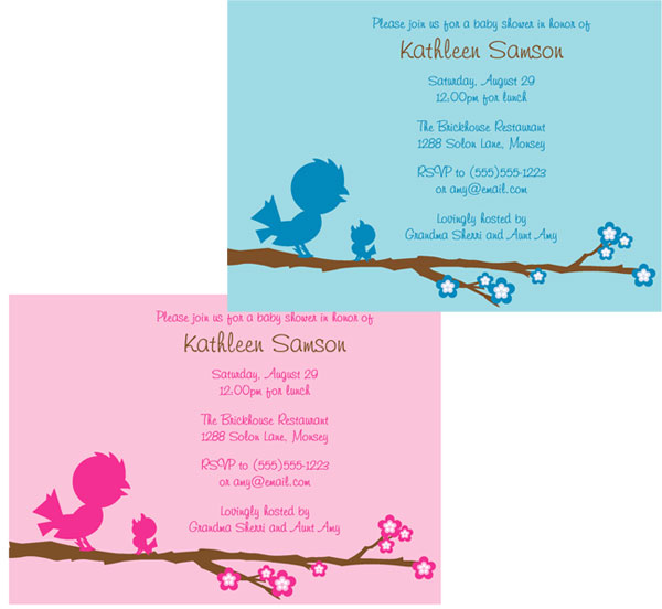 Baby Bird Baby Shower Invitation
